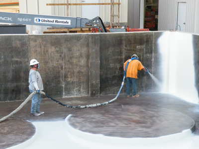 Eliminating Concrete Corrosion at Steel Fabrication Company