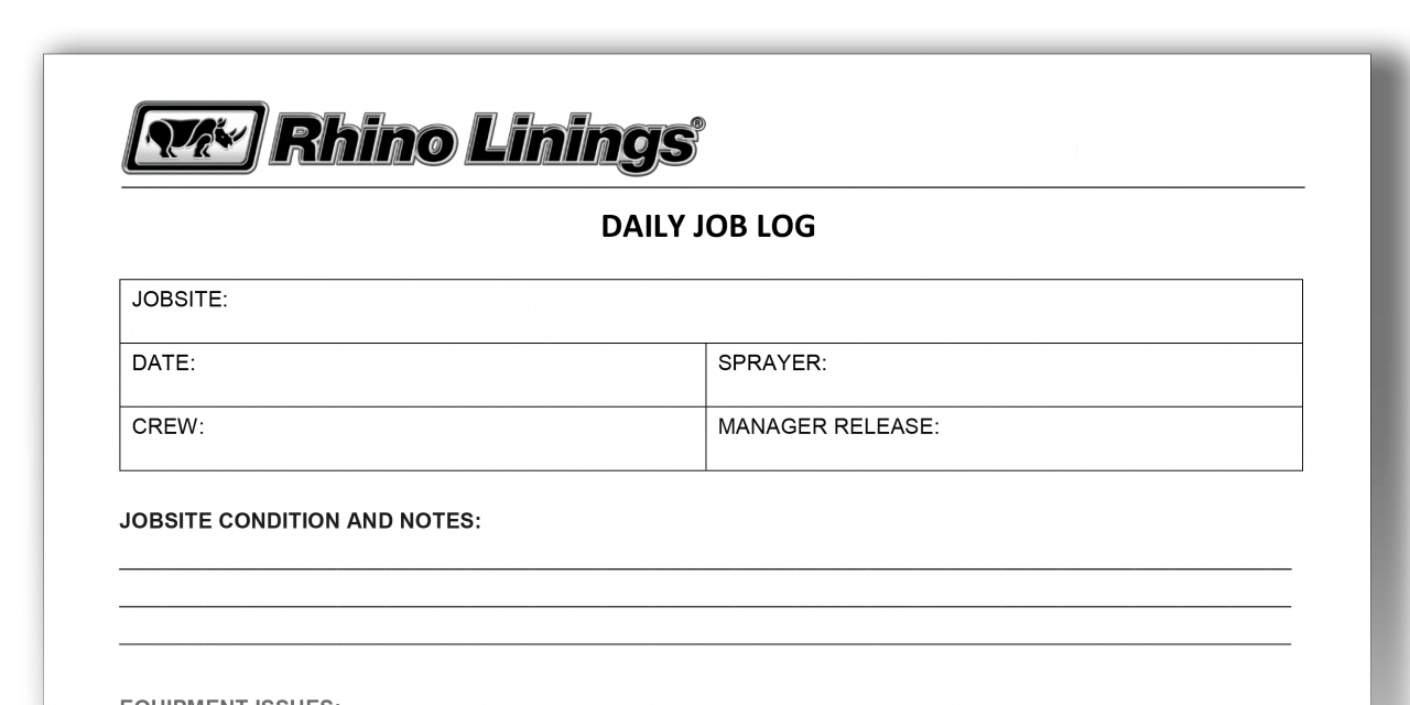 The Importance of Maintaining Daily Logs