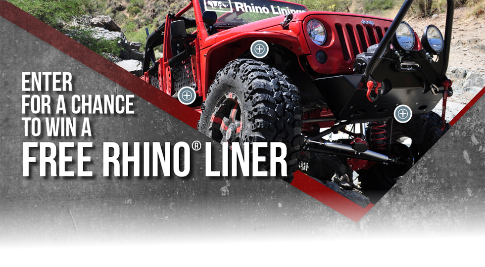 Rhino Linings® Gift Card Giveaway Promotion