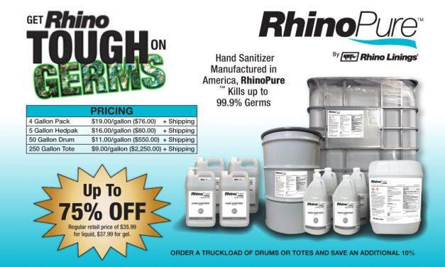 RhinoPure Hand Sanitizer 75% Off